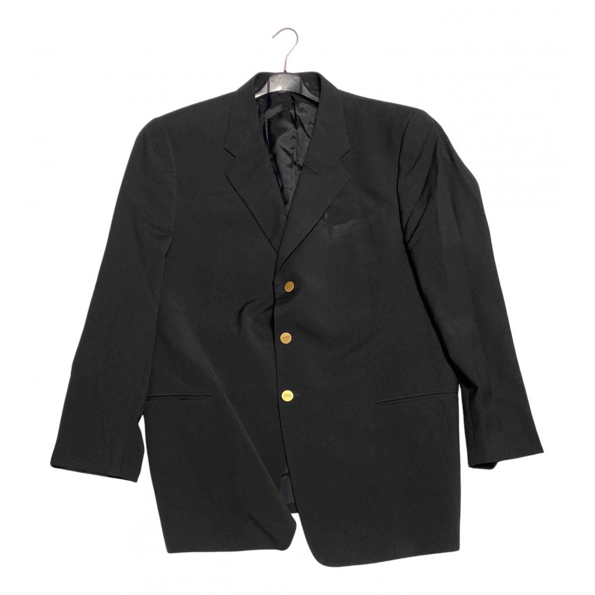 Armani Collezioni - Vestes.Blousons   pour homme en coton - noir