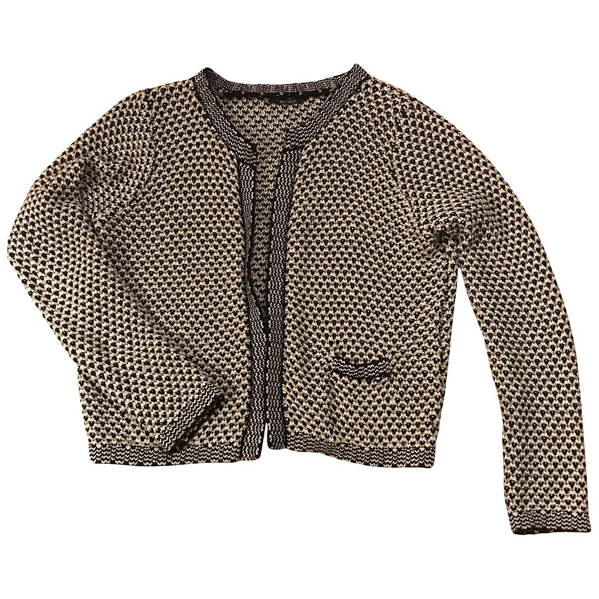Non Signé / Unsigned \N Ecru Cotton Knitwear for Women 36 FR