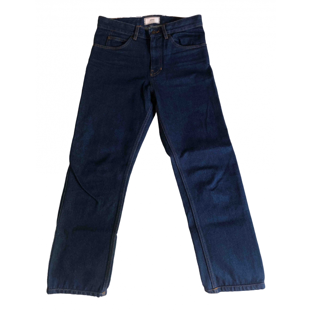 Ami \N Navy Cotton Jeans for Men 29 US