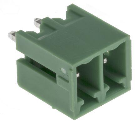 RS PRO , 2 Way, 1 Row, Straight PCB Terminal Block Header (10)