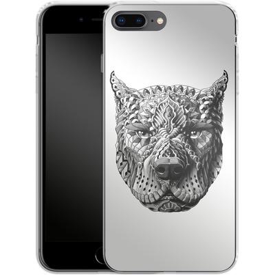 Apple iPhone 8 Plus Silikon Handyhuelle - Pitbull von BIOWORKZ