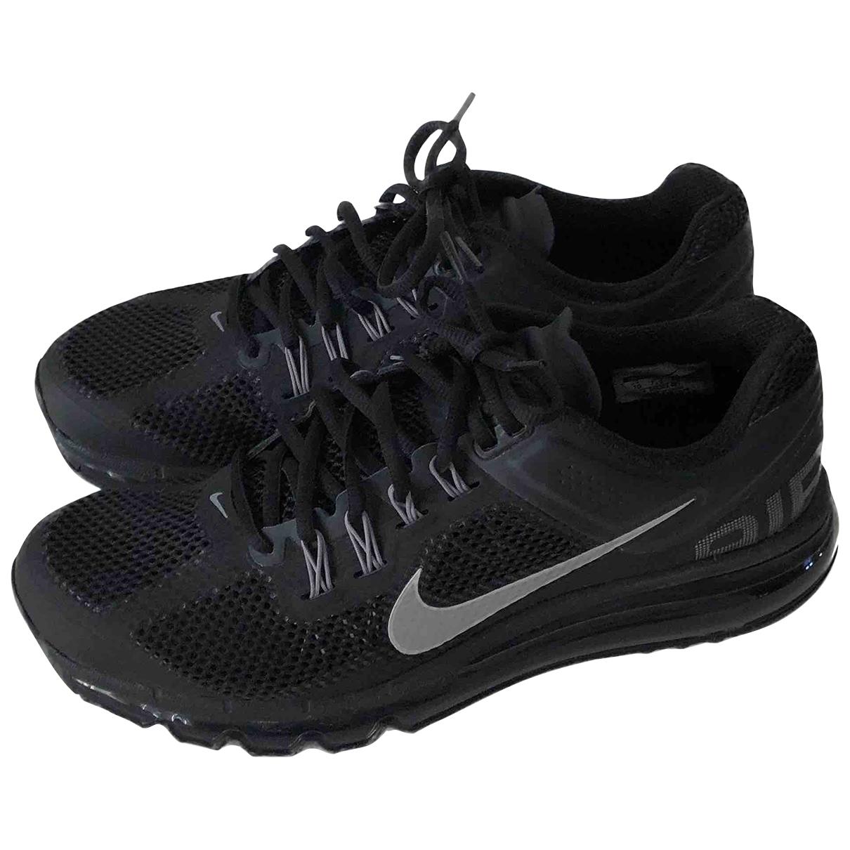 Nike - Baskets Air Max  pour femme en toile - noir