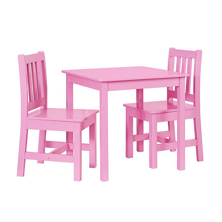 Jaydn 3-pc. Kids Table and Chairs Set, One Size , Pink