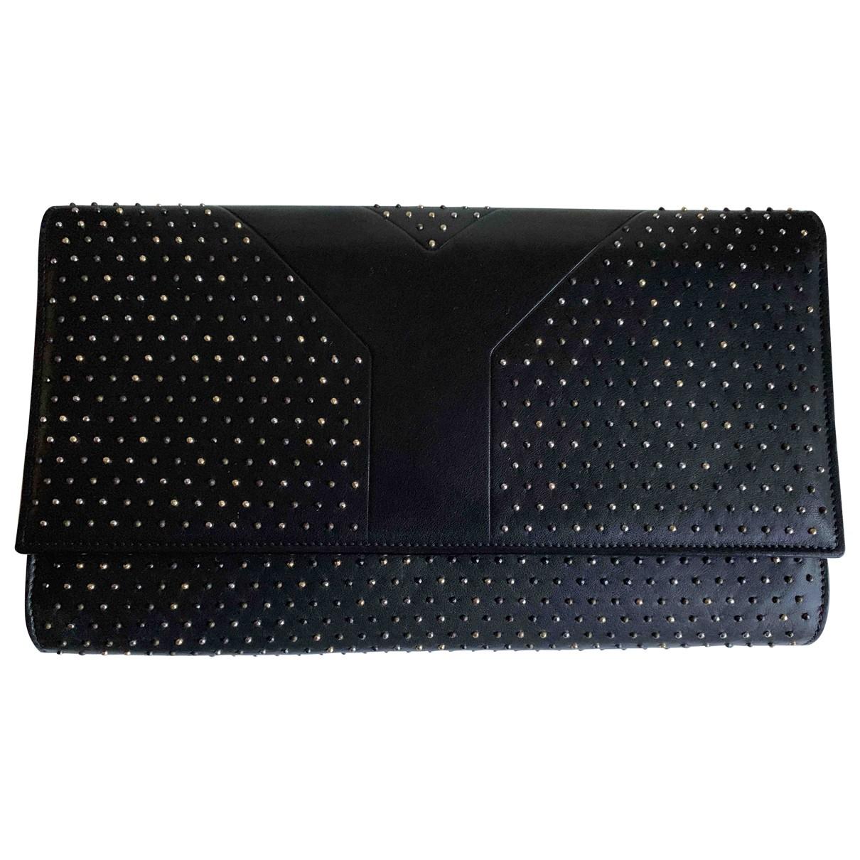 Yves Saint Laurent - Pochette Chyc pour femme en cuir - noir