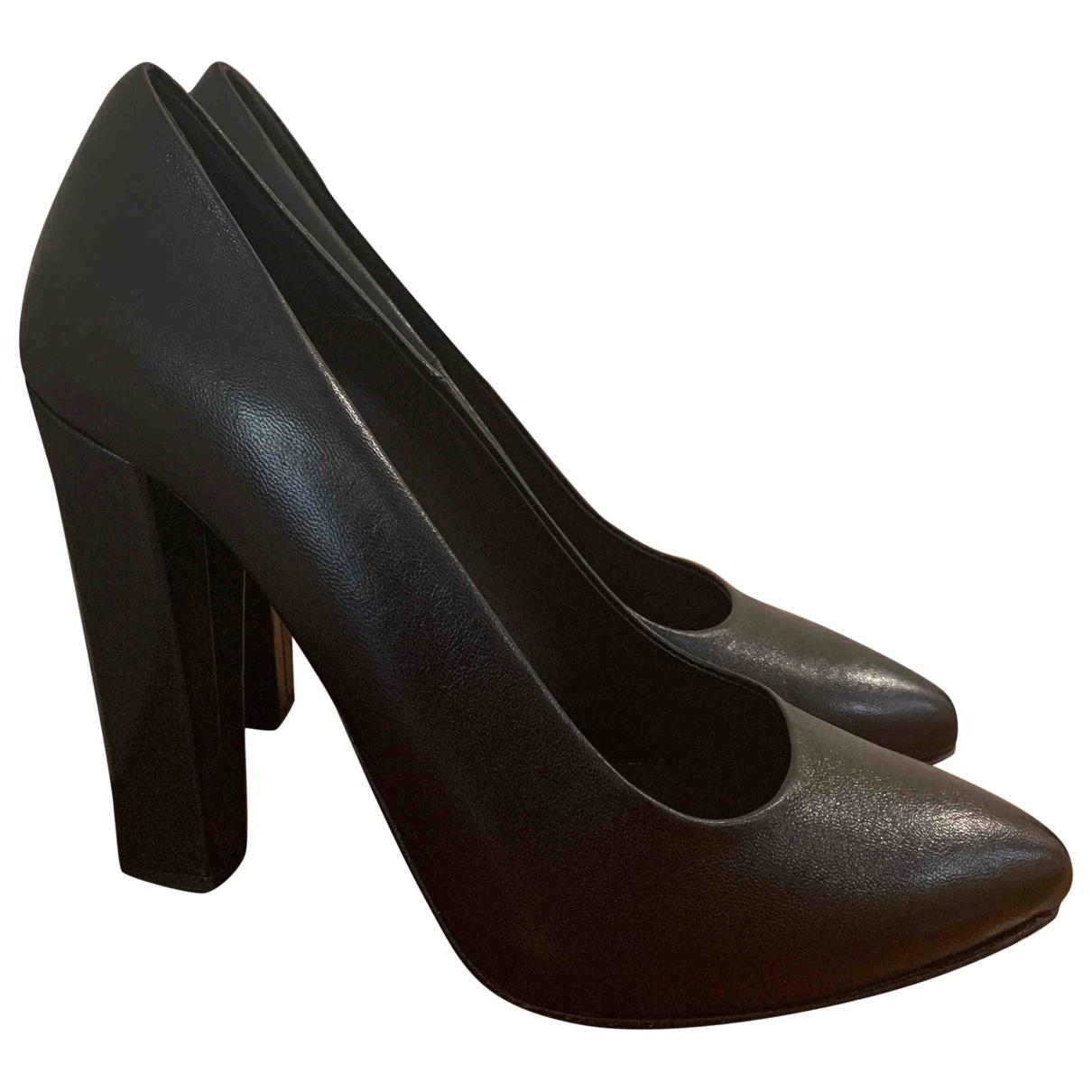 Mauro Grifoni \N Black Leather Heels for Women 39 EU