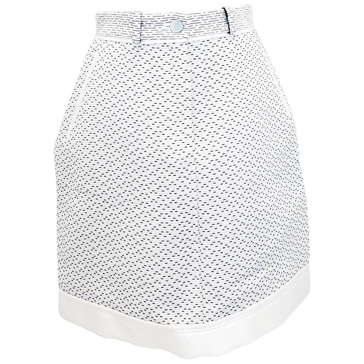 Carven - Jupe   pour femme en coton - blanc