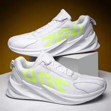 Maenner Sneakers mit Buchstaben Grafik und Band vorn