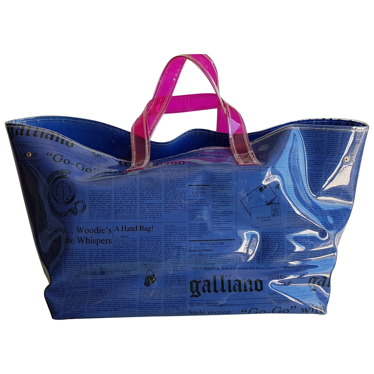 John Galliano \N Handtasche in  Blau Kunststoff