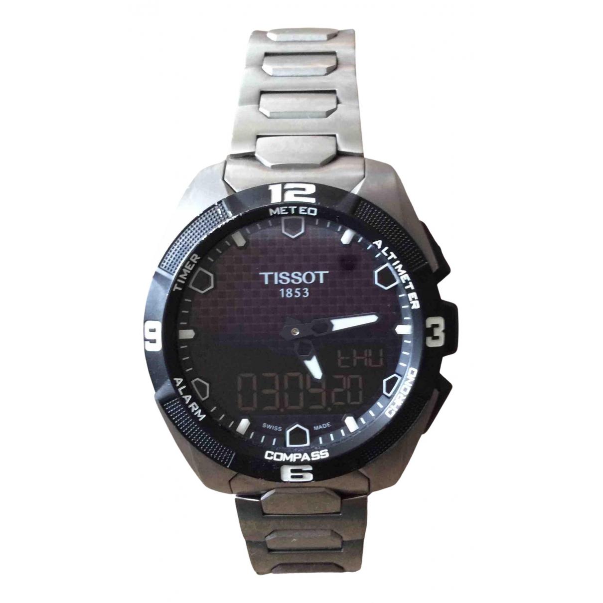 Tissot - Montre   pour homme en titane - argente