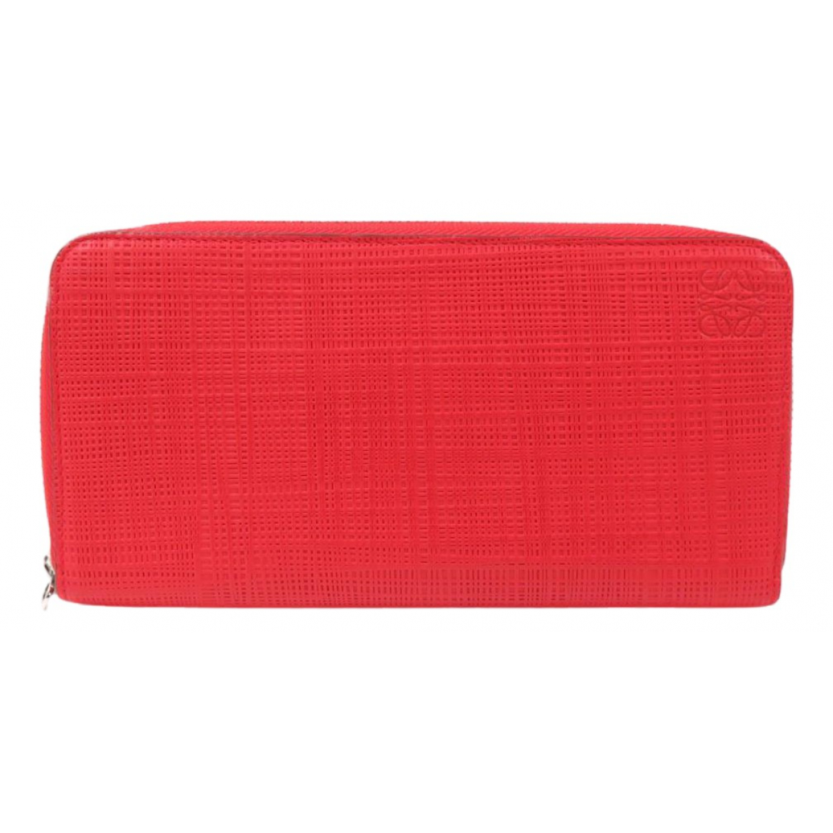 Loewe \N Portemonnaie in  Rot Leder