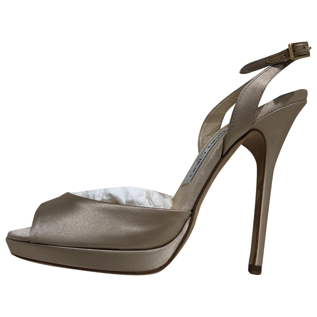 Jimmy Choo \N Beige Cloth Sandals for Women 39 EU