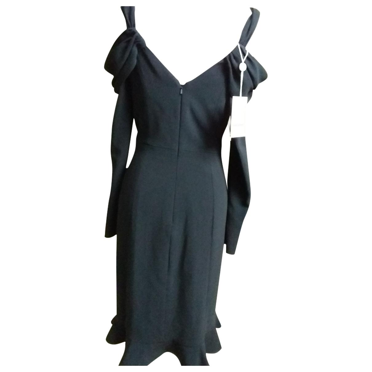 Non Signé / Unsigned Epaulettes Black dress for Women 40 FR