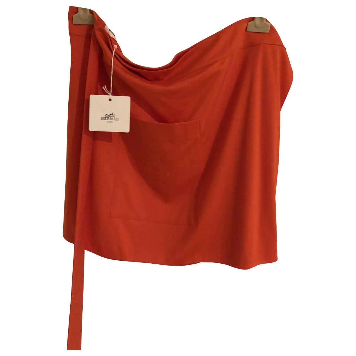 Hermes \N Rocke in  Orange Baumwolle