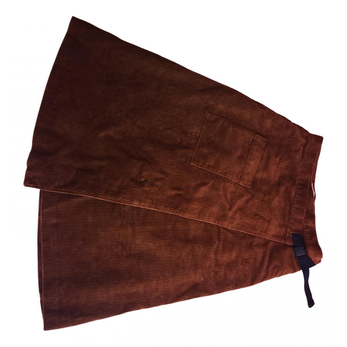 Uniqlo - Jupe   pour femme en coton - camel