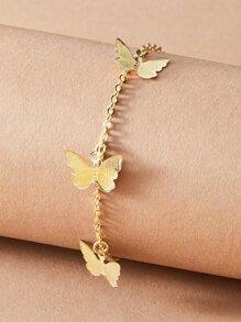 1pc Butterfly Tassel Charm Chain Bracelet