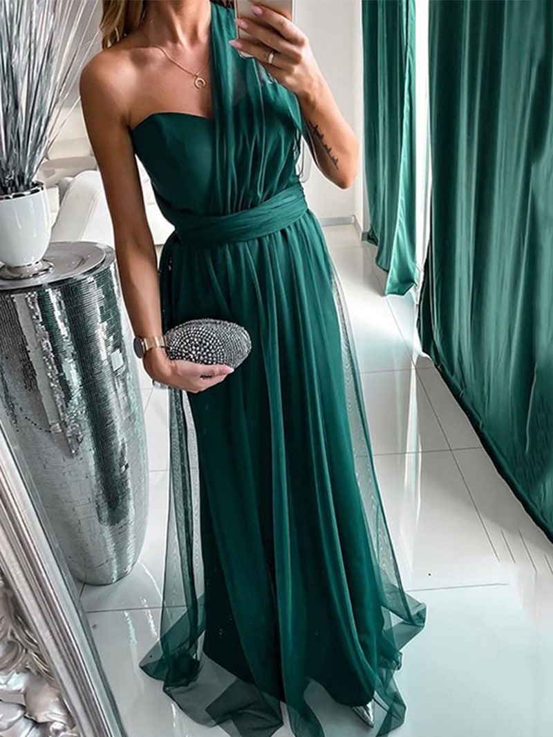 Ericdress Floor-Length Split Sleeveless A-Line Pullover Dress