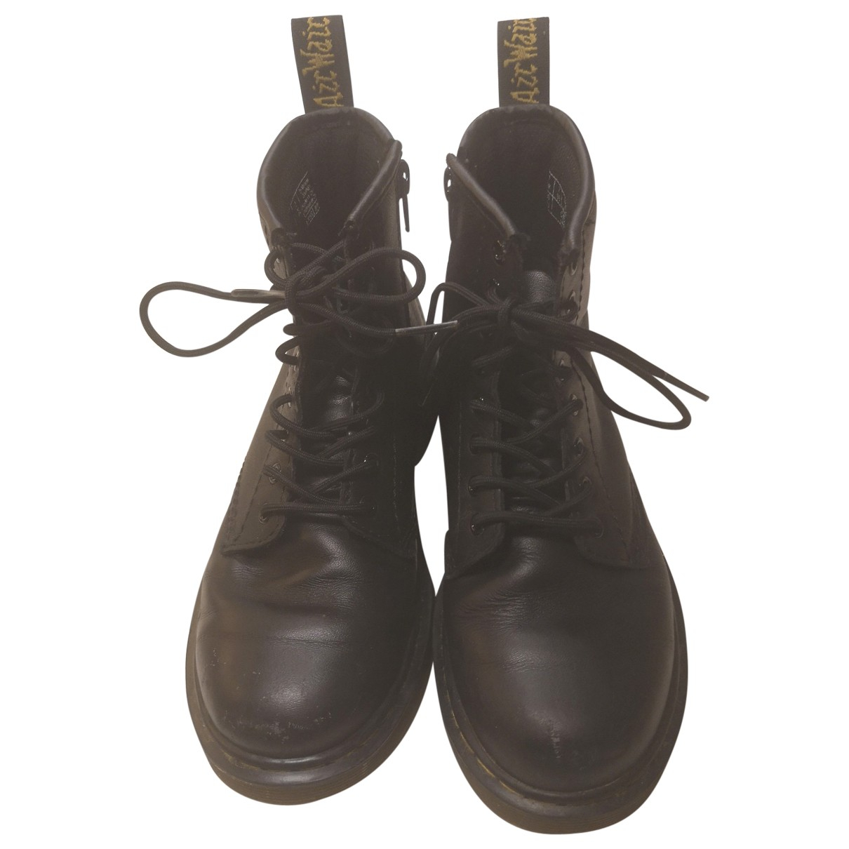 Dr. Martens \N Black Leather Boots for Kids 33 FR
