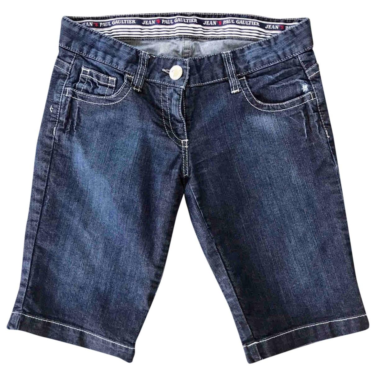 Jean Paul Gaultier \N Blue Denim - Jeans Shorts for Women 28 US