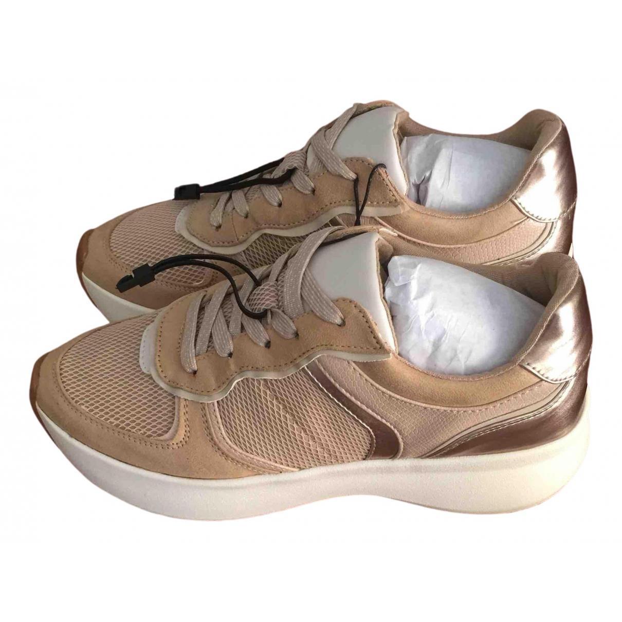 Zara \N Sneakers in  Beige Leinen