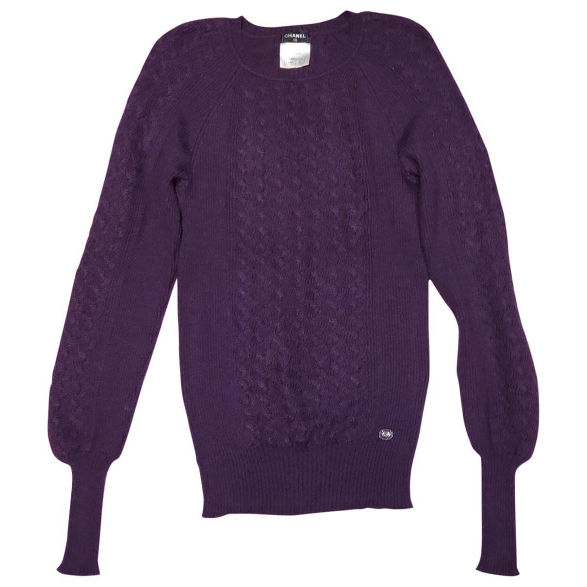 Chanel - Pull   pour femme en cachemire - violet
