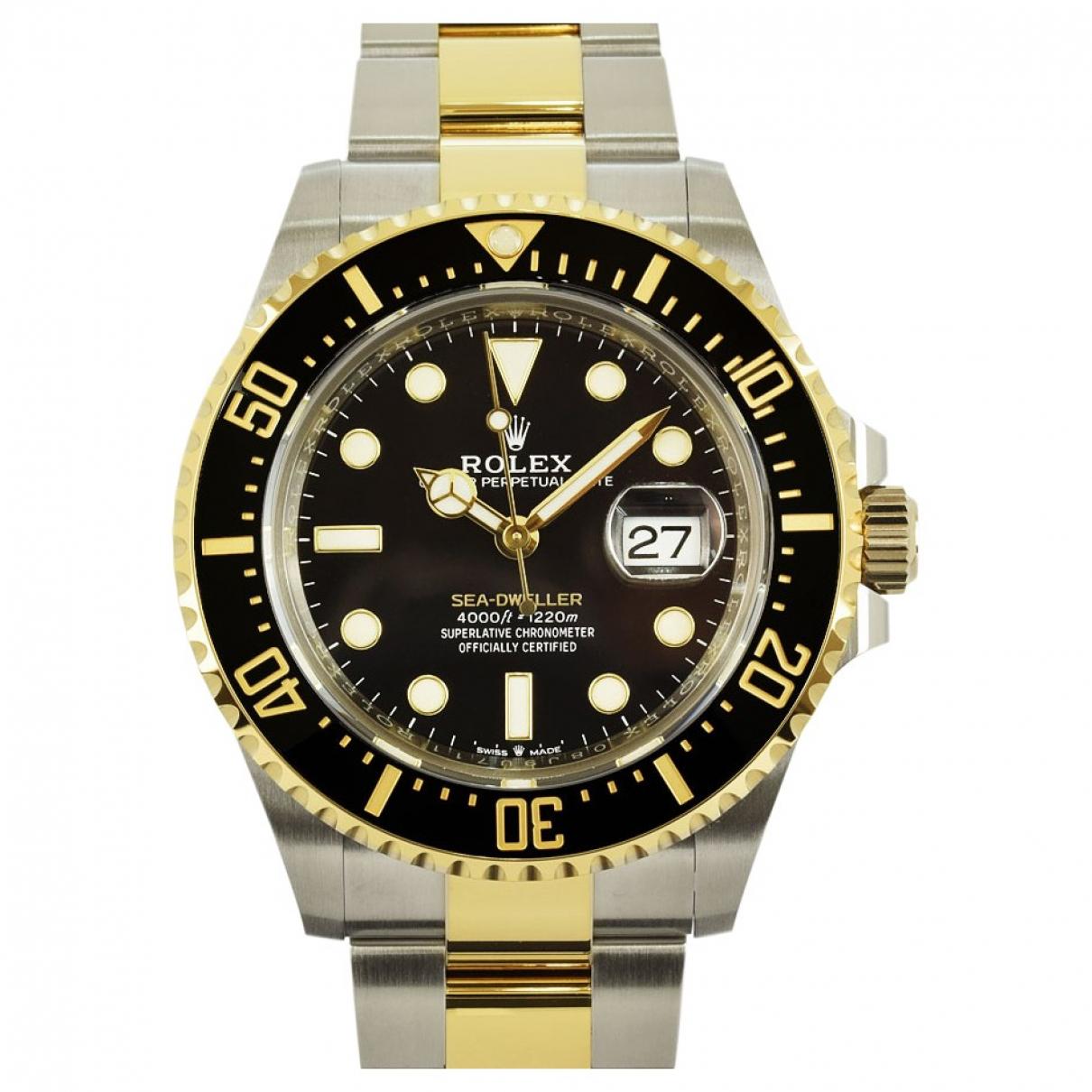 Rolex Sea-Dweller Uhr in  Schwarz Gold und Stahl