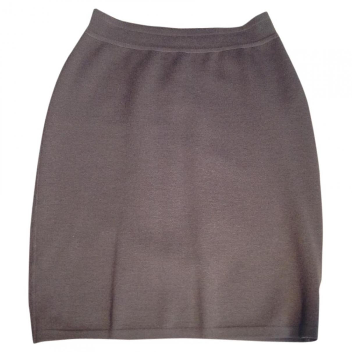 Alaia - Jupe   pour femme en laine - marron