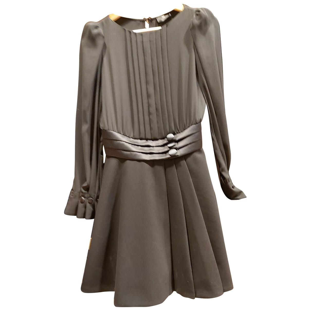 Elisabetta Franchi \N Black Cotton dress for Women 38 FR