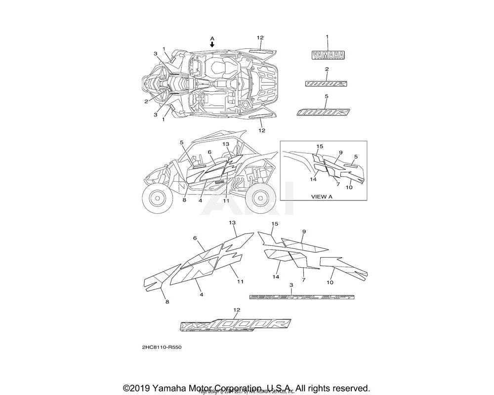 Yamaha OEM 2HC-F1781-30-00 EMBLEM 1