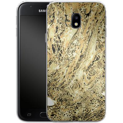 Samsung Galaxy J3 (2017) Silikon Handyhuelle - Marbled Sand von Amy Sia