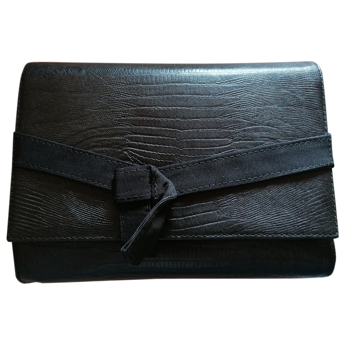 Gianni Versace \N Clutch in  Schwarz Leder