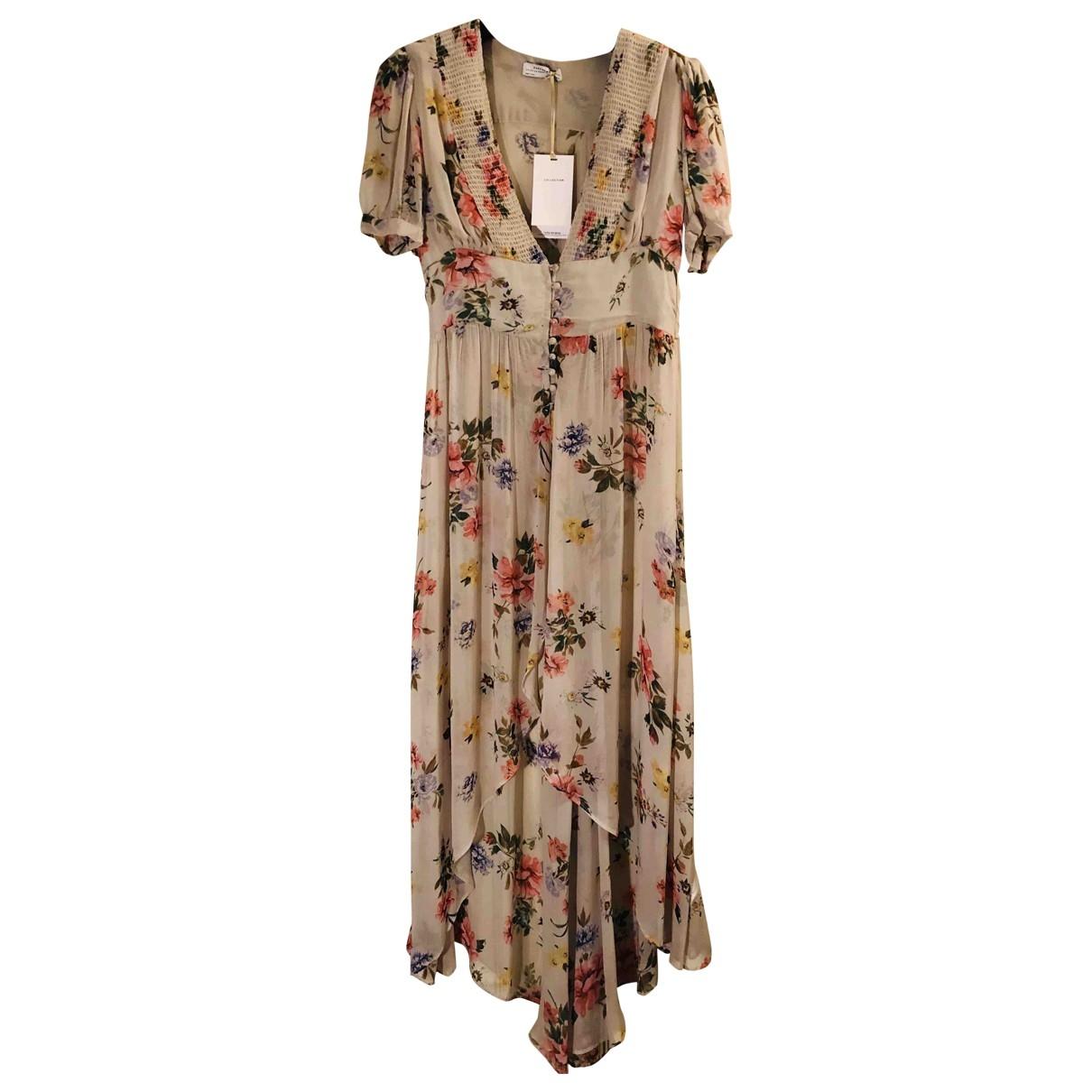 Zara \N Kleid in  Ecru Polyester