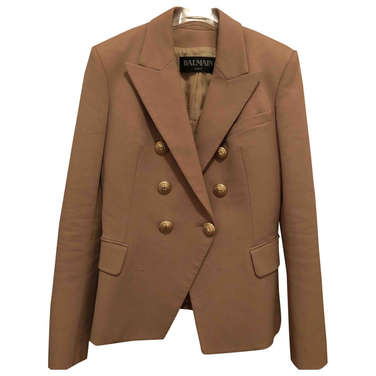 Balmain \N Beige Cotton jacket for Women 38 FR