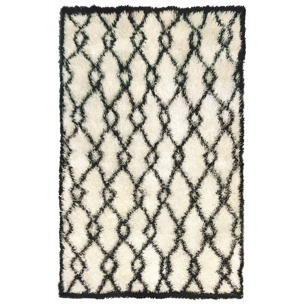 Liora Manne Decorative Shaggy Outdoor Rug (5' x 7'6) - 5' x 7'6 - 5' x 7'6 (5' x 7'6 - Natural)