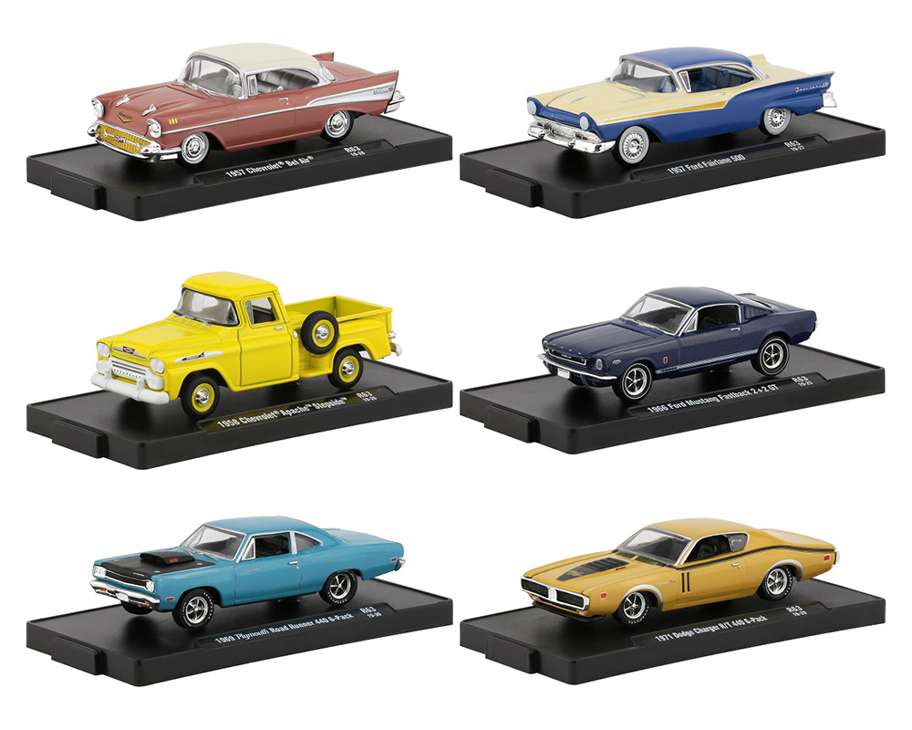 Drivers 6 Cars Set Release 63 in Blister Packs 1/64 Diecast Model Cars by M2 Machines