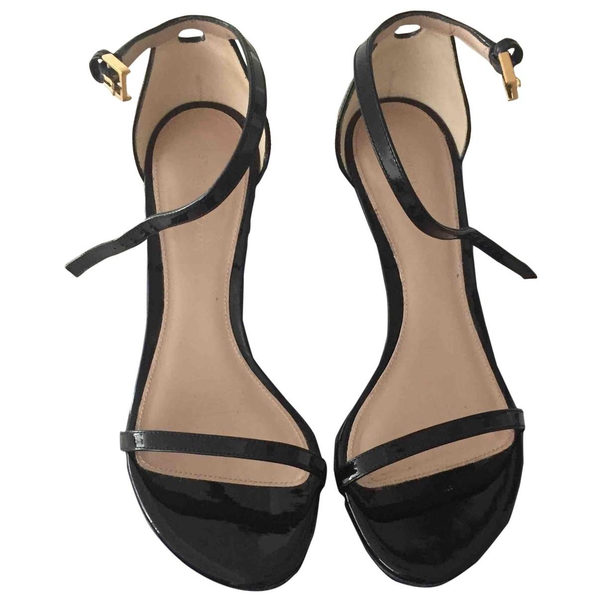 Stuart Weitzman \N Black Patent leather Sandals for Women 36 EU