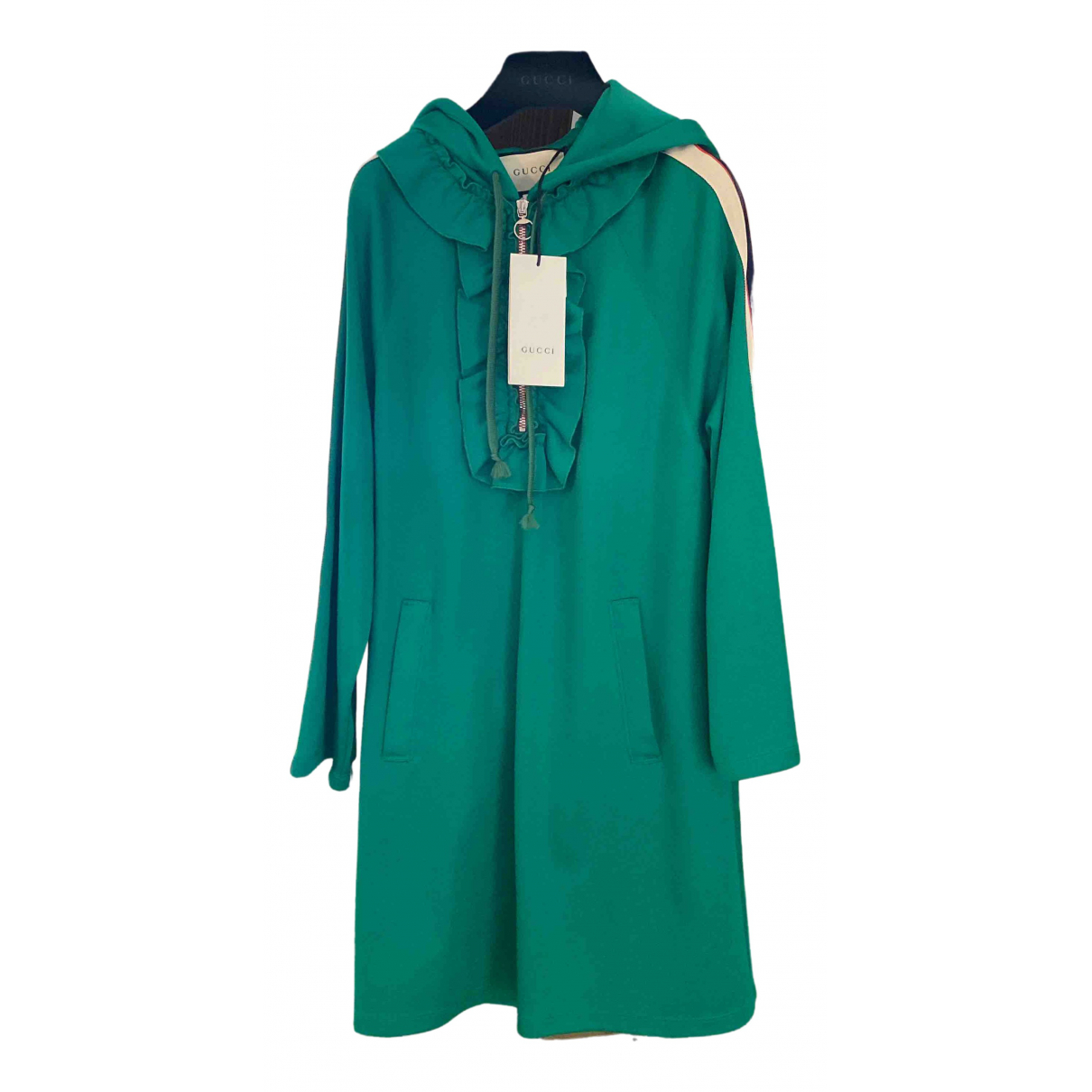 Gucci \N Kleid in  Gruen Baumwolle