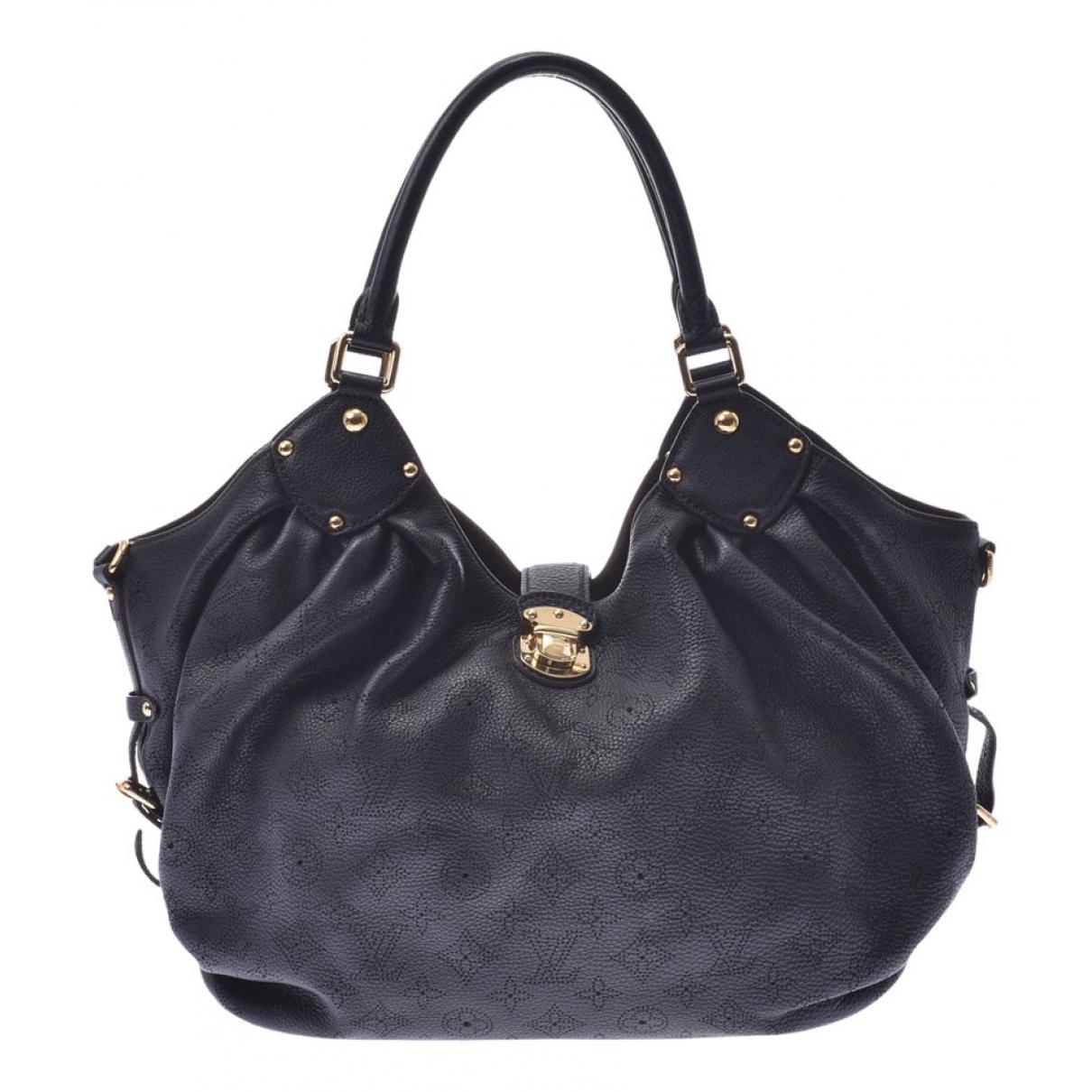 Louis Vuitton - Sac a main Mahina pour femme en toile - noir