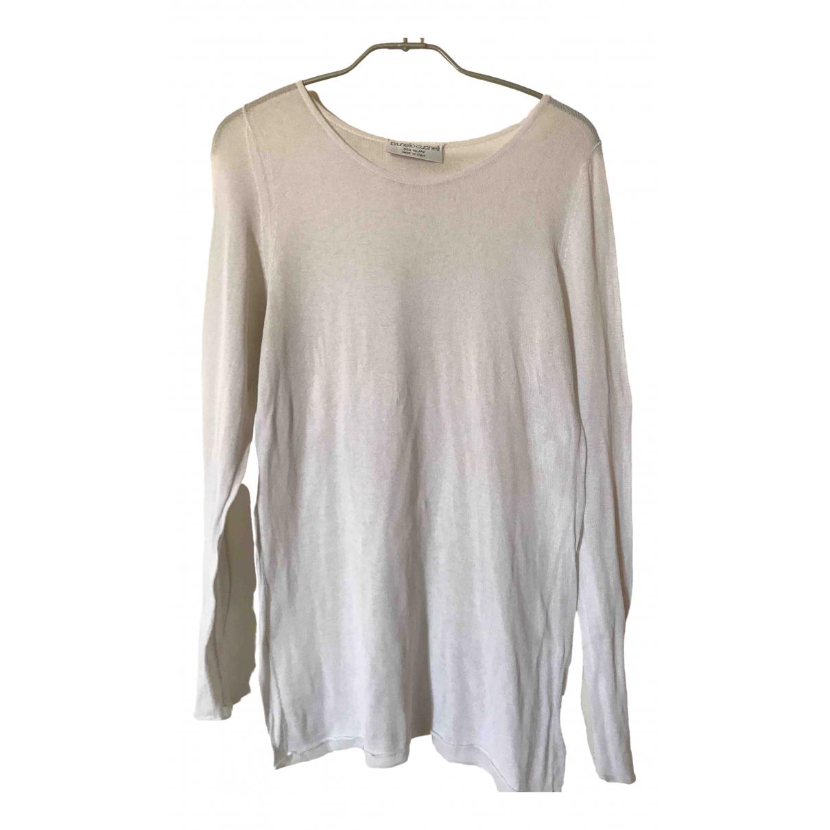 Brunello Cucinelli \N White Cotton Knitwear for Women 48 IT