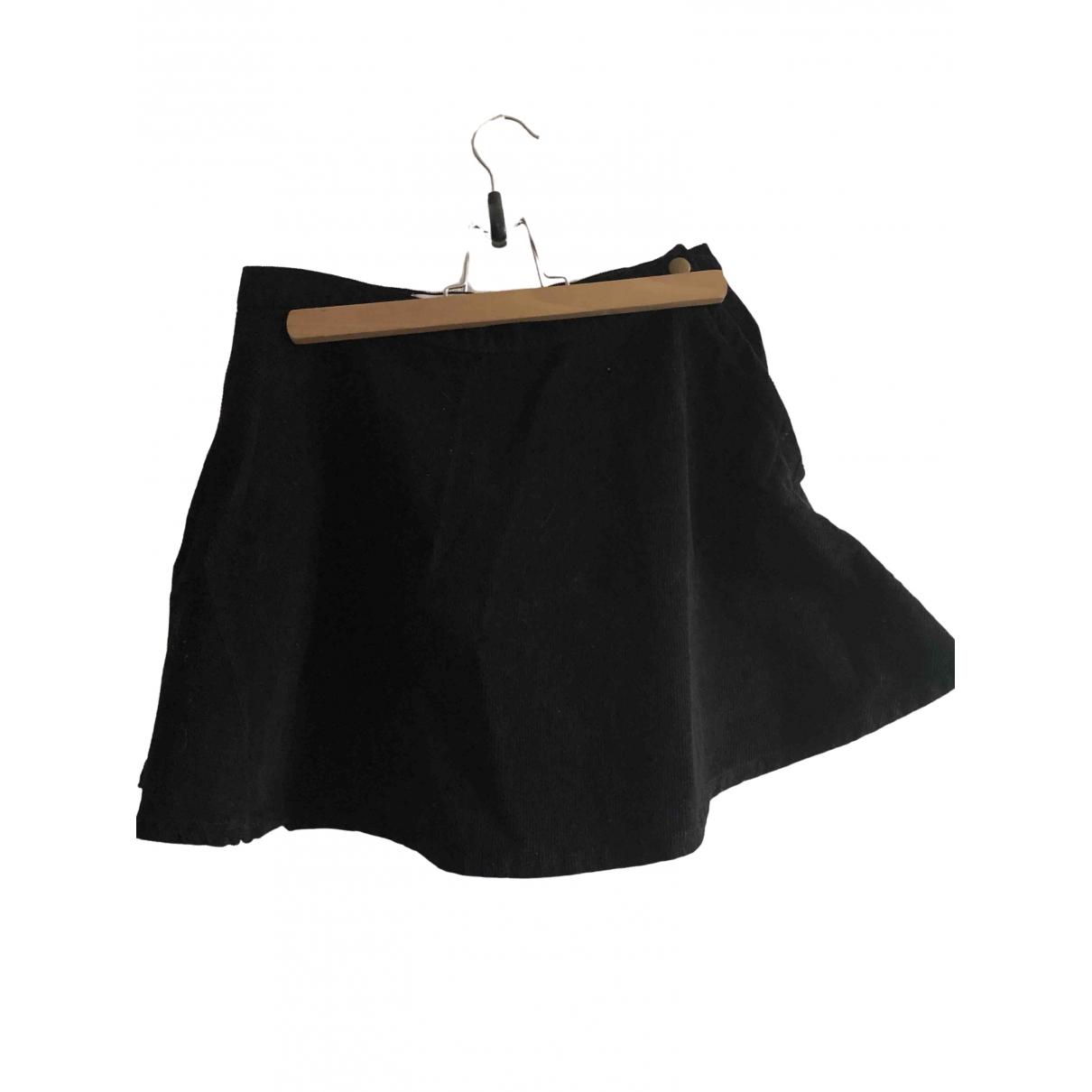 American Apparel - Jupe   pour femme en velours - noir