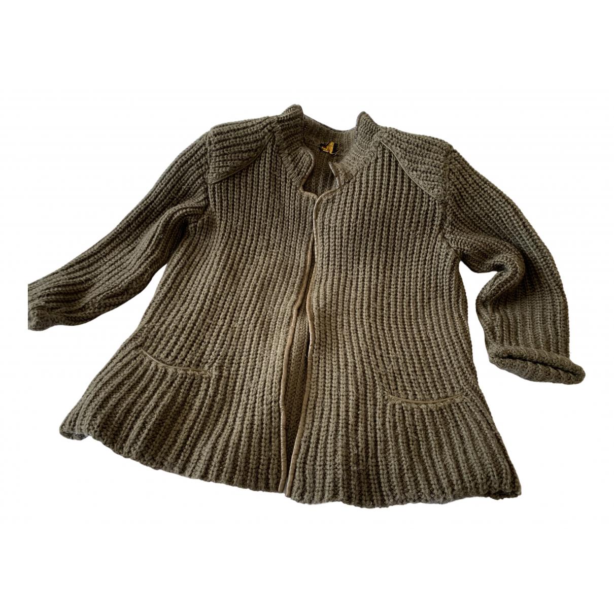 Trussardi N Brown Wool Knitwear for Women 40 IT