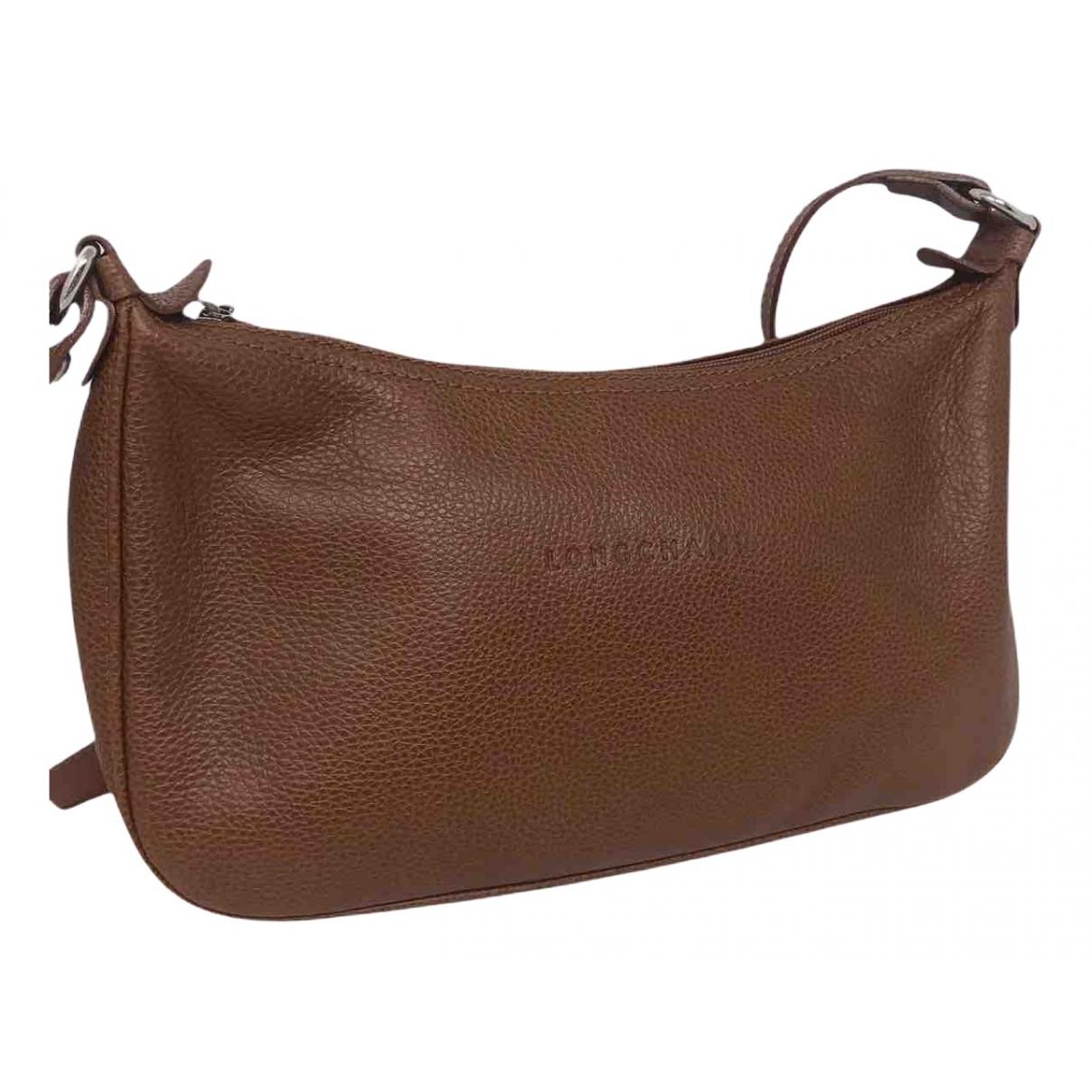 Longchamp - Sac a main   pour femme en cuir - marron