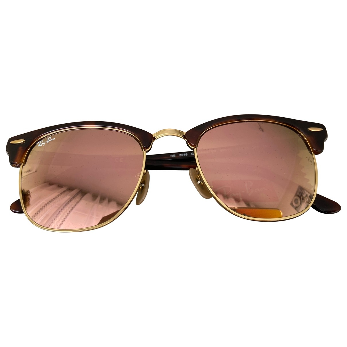 Ray-ban Clubmaster Brown Metal Sunglasses for Women \N