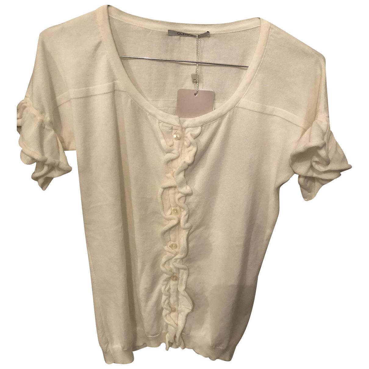 Non Signé / Unsigned N White Cotton Knitwear for Women S International