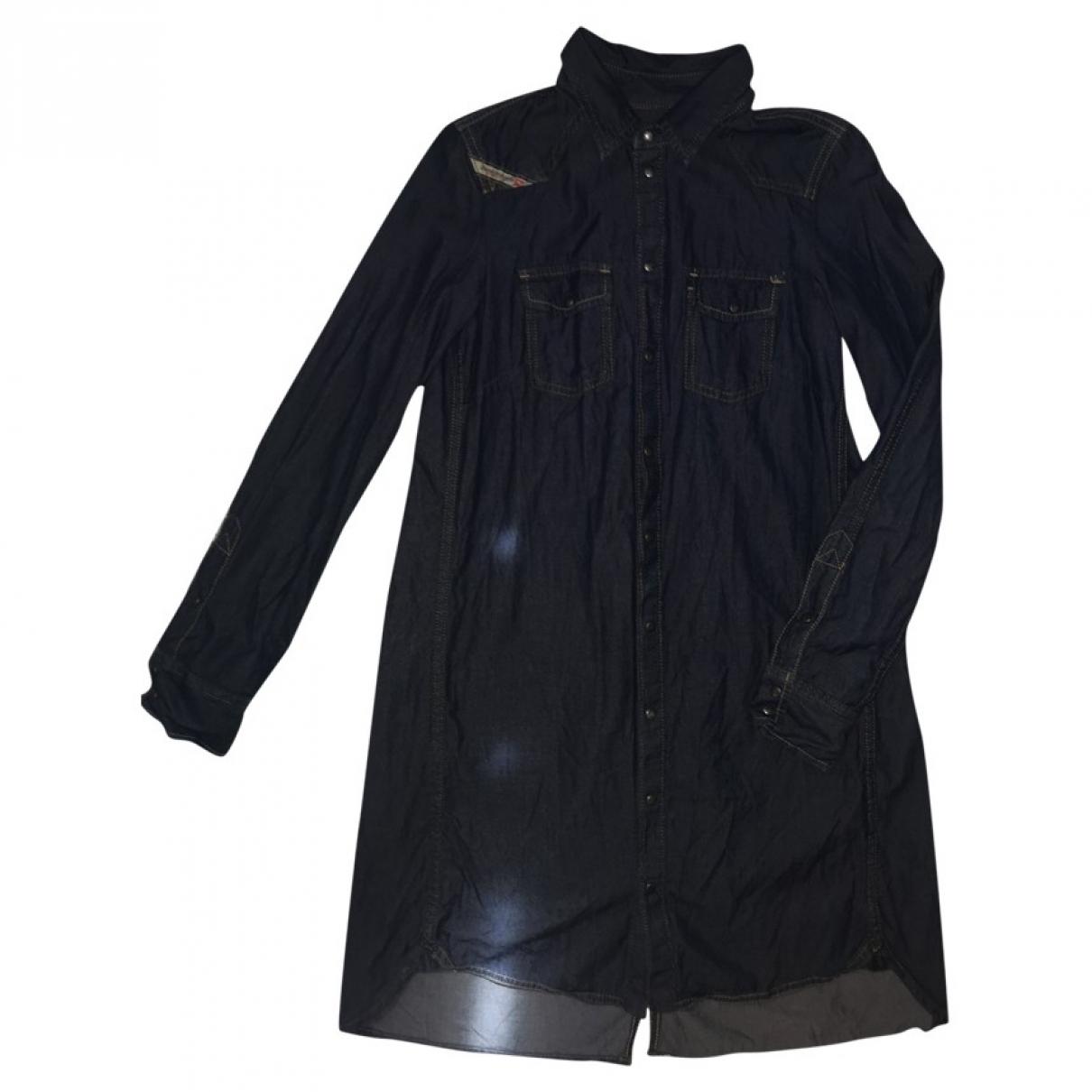 Diesel - Robe   pour femme en coton - elasthane - bleu