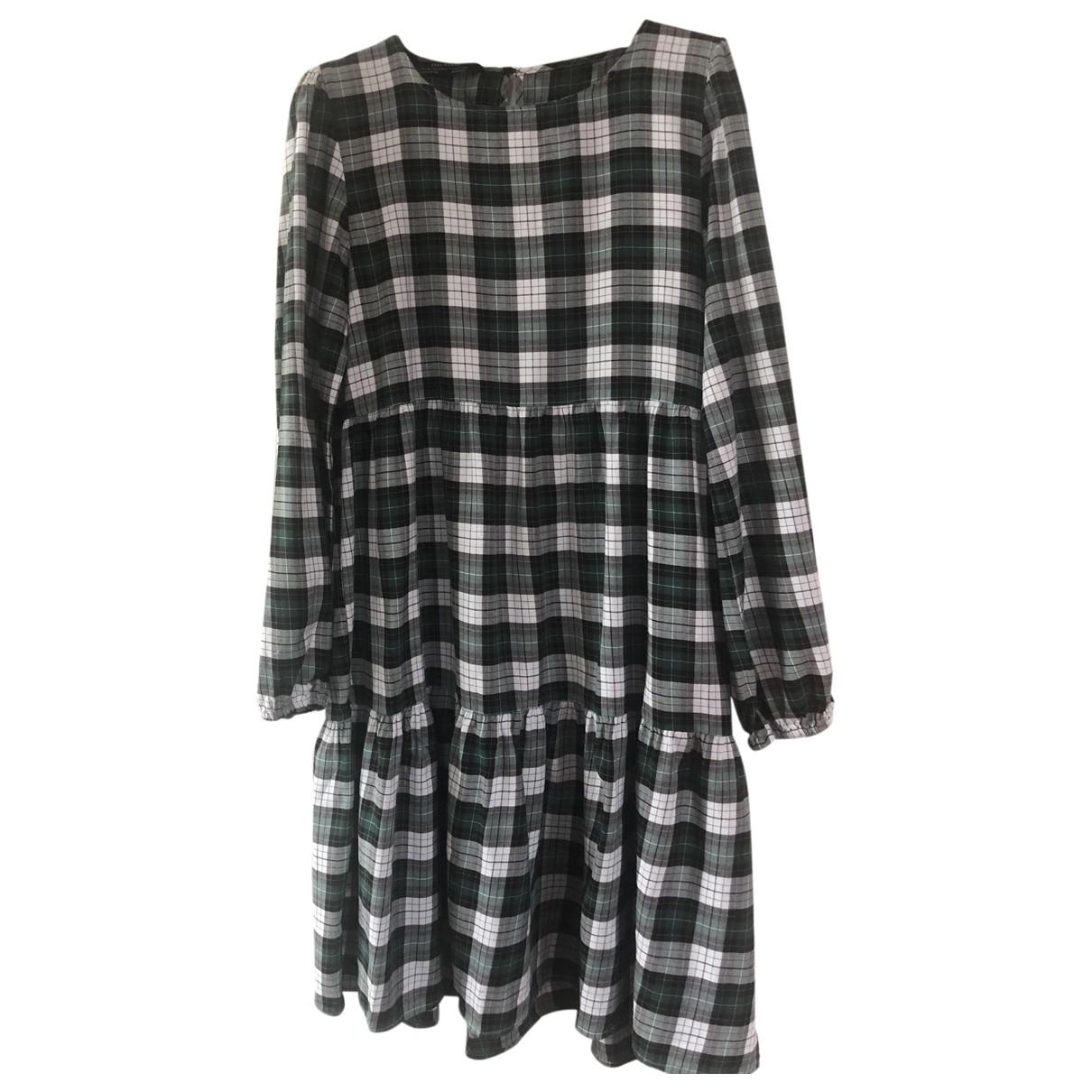 Zara - Robe   pour femme en coton - multicolore