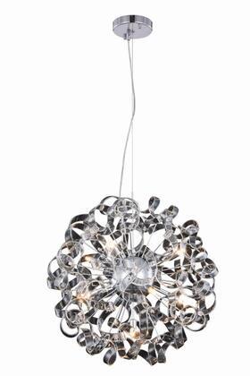 2104D24C Ritz Collection Pendant Lamp D:24 H:24 Lt:9 Chrome