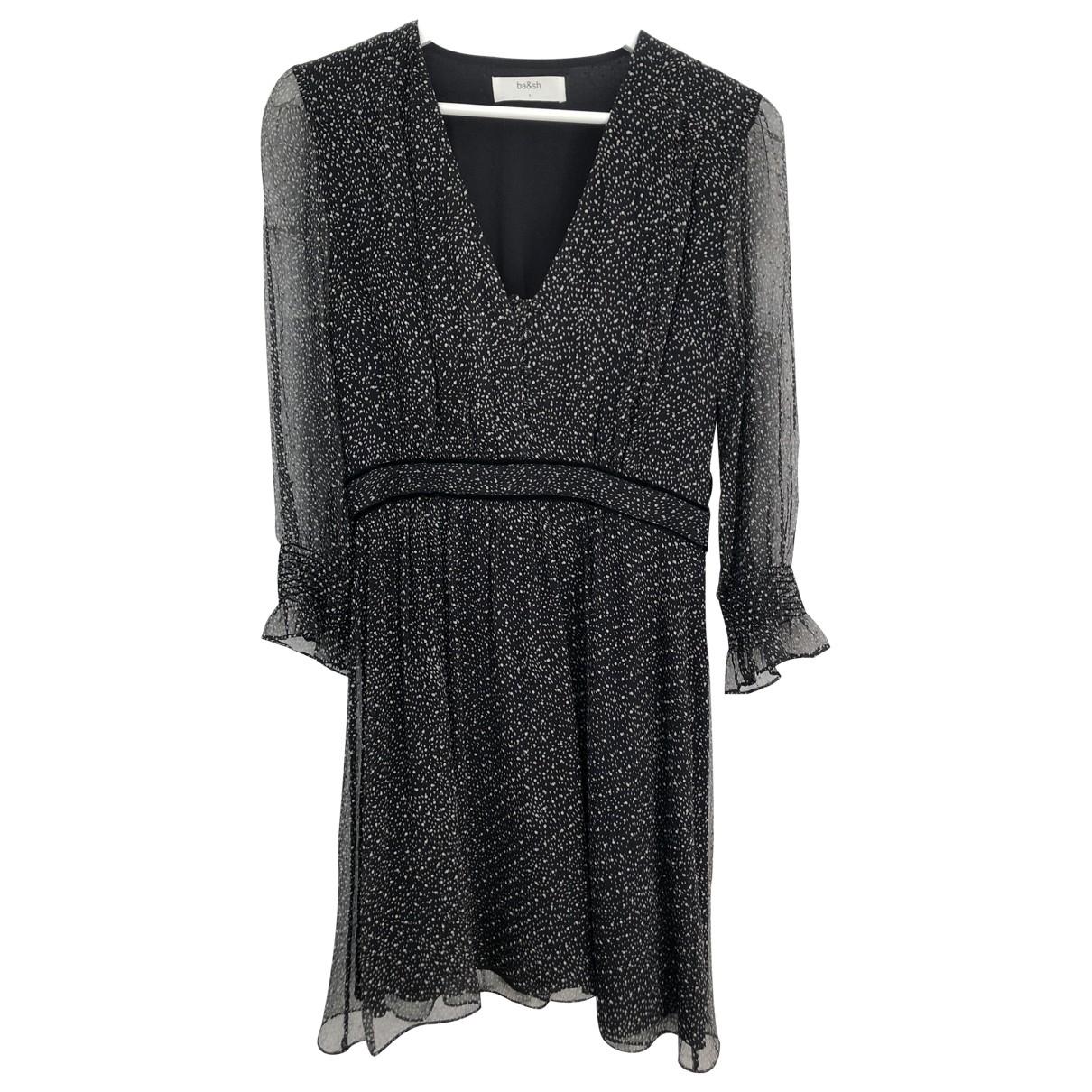 Ba&sh - Robe Spring Summer 2019 pour femme en soie - noir