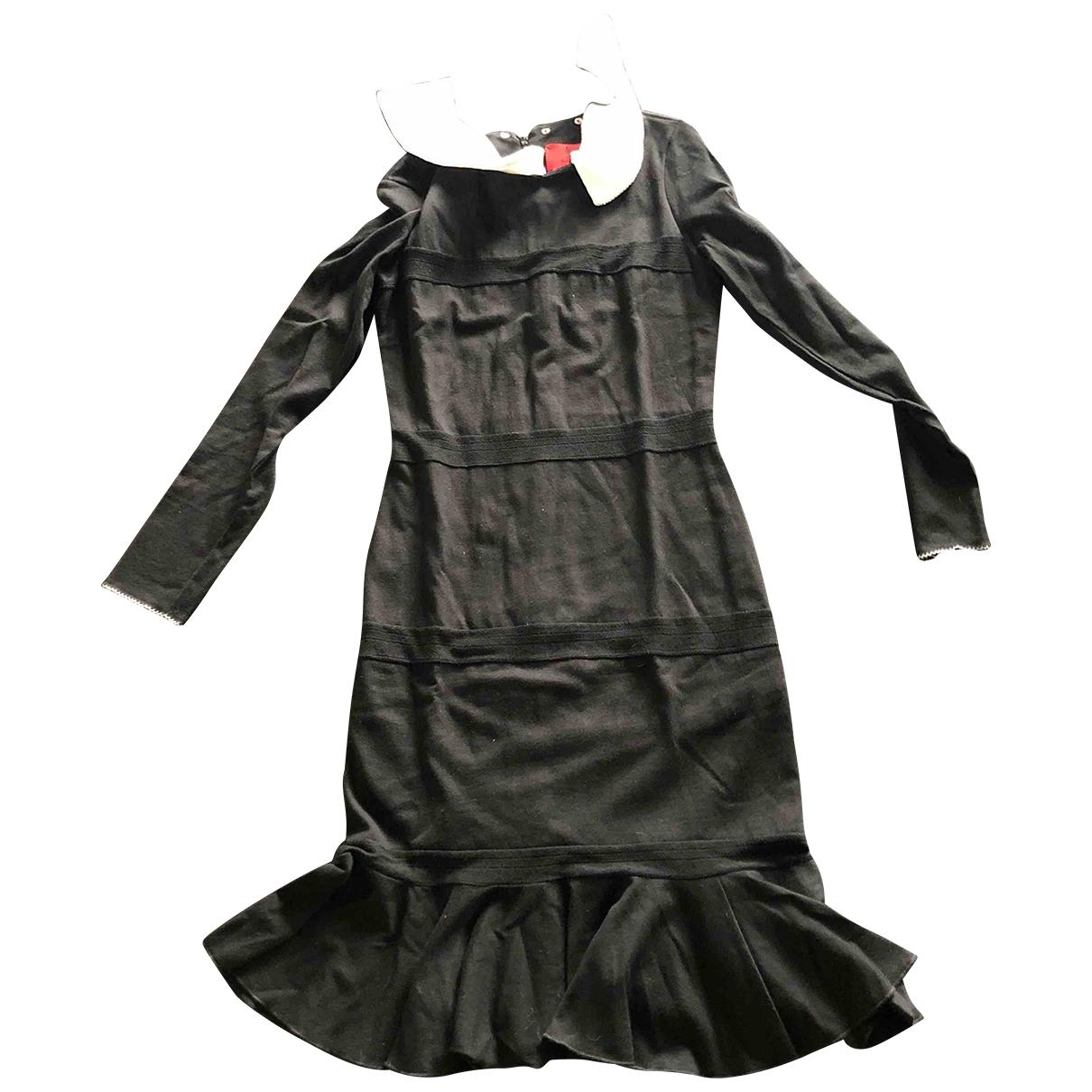 Petit Bateau \N Kleid in  Schwarz Baumwolle - Elasthan