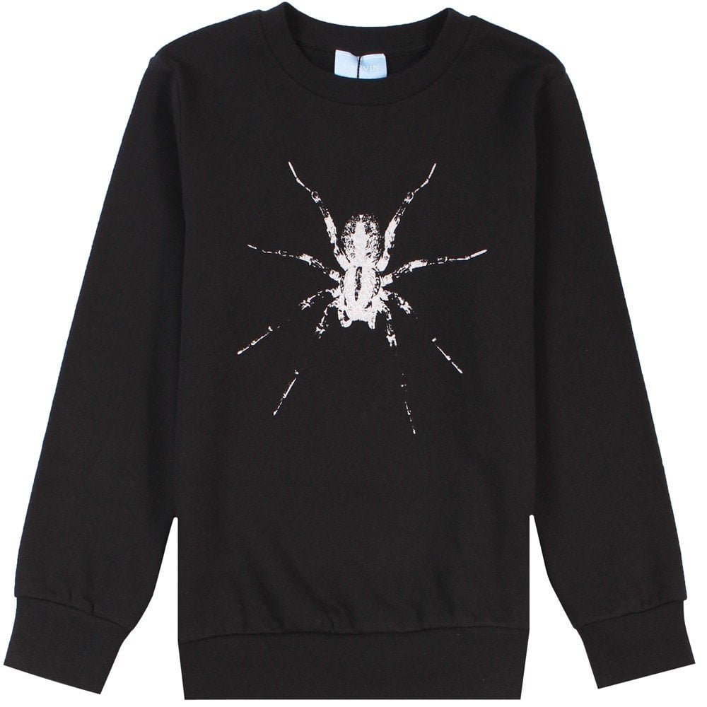 Lanvin Kids Spider Logo Sweatshirt Black  Colour: BLACK, Size: 8 YEARS