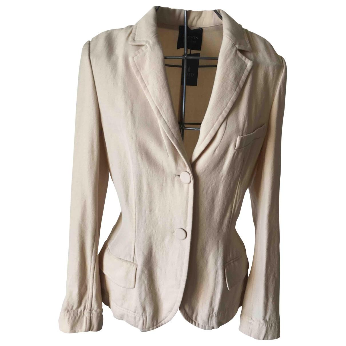 Lanvin - Veste   pour femme en laine - beige